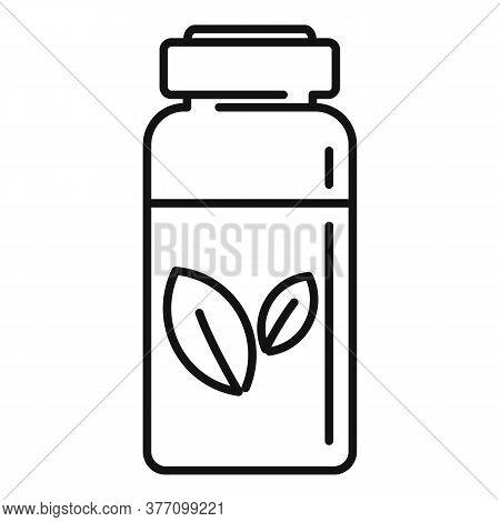 Homeopathy Syringe Bottle Icon. Outline Homeopathy Syringe Bottle Vector Icon For Web Design Isolate