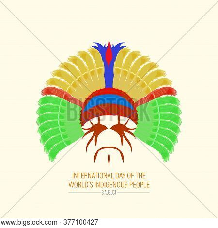 Vector Illustration Of International Day Of The World's Indigenous People. August 9.. Vector Design