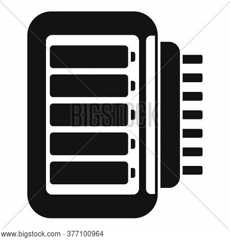 Stick Battery Charger Icon. Simple Illustration Of Stick Battery Charger Vector Icon For Web Design