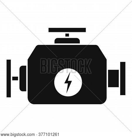 Hybrid Car Engine Icon. Simple Illustration Of Hybrid Car Engine Vector Icon For Web Design Isolated