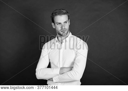 Workers Experiencing Unemployment In Downturn. Financial Consultant. White Collar Worker. Menswear F