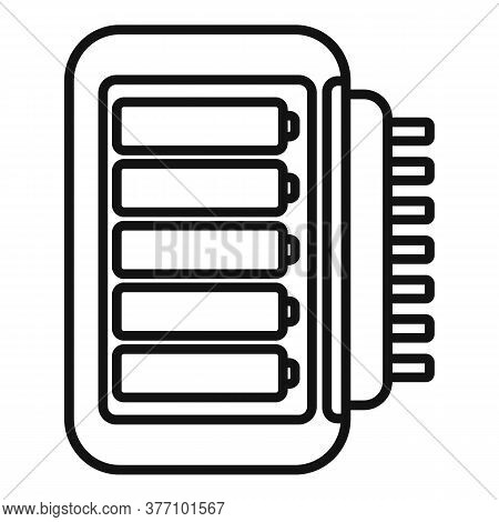Stick Battery Charger Icon. Outline Stick Battery Charger Vector Icon For Web Design Isolated On Whi