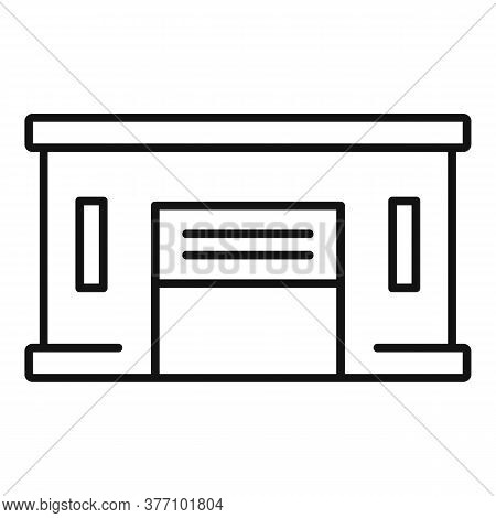 Service Car Garage Icon. Outline Service Car Garage Vector Icon For Web Design Isolated On White Bac