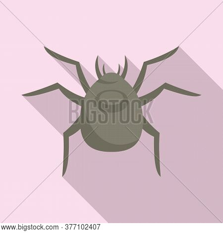 Spider Forest Bug Icon. Flat Illustration Of Spider Forest Bug Vector Icon For Web Design