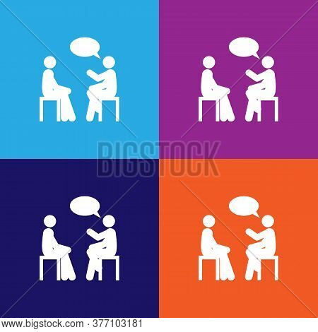 Conversation Icon. Element Of Colleagues Icon For Mobile Concept And Web Apps.