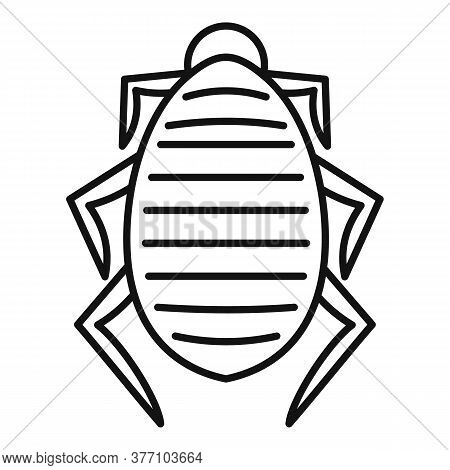 Mite Icon. Outline Mite Vector Icon For Web Design Isolated On White Background