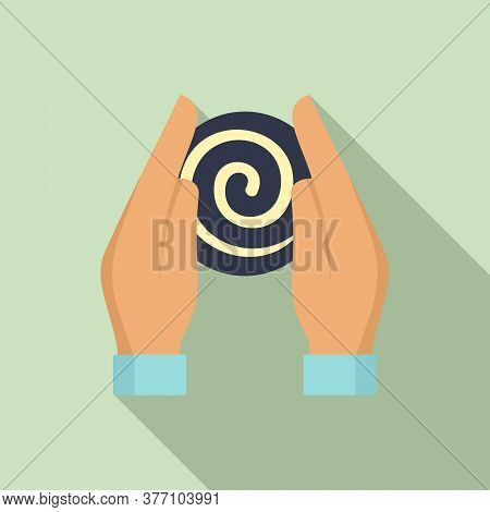Hypnosis Hands Icon. Flat Illustration Of Hypnosis Hands Vector Icon For Web Design