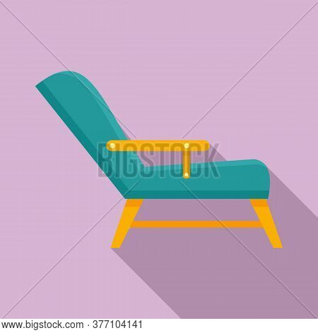 Hypnotherapy Armchair Icon. Flat Illustration Of Hypnotherapy Armchair Vector Icon For Web Design