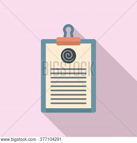 Hypnosis Clipboard Icon. Flat Illustration Of Hypnosis Clipboard Vector Icon For Web Design