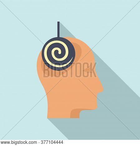 Hypnosis Treatment Icon. Flat Illustration Of Hypnosis Treatment Vector Icon For Web Design