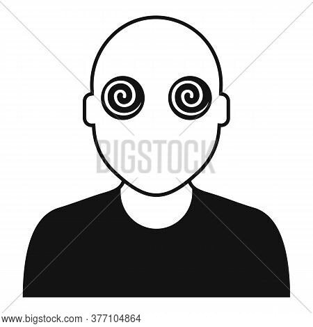 Hypnosis Pacient Eyes Icon. Simple Illustration Of Hypnosis Pacient Eyes Vector Icon For Web Design