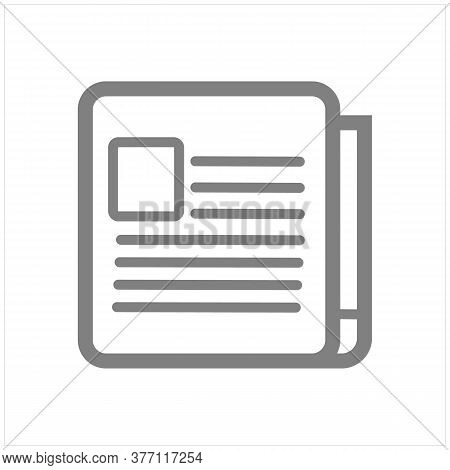 Newspaper Icon Isolated On White Background. Newspaper Icon In Trendy Design Style.