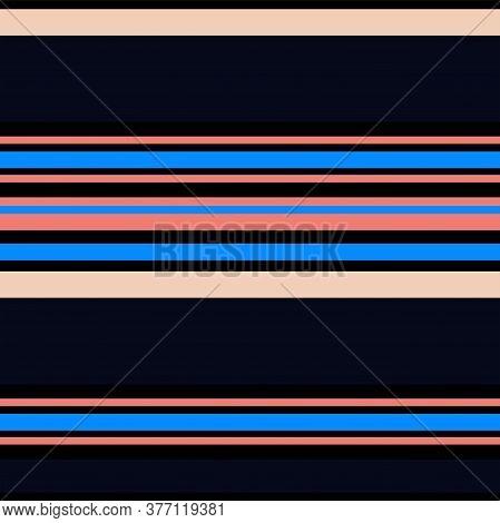 Sailor Stripes Seamless Pattern. Autumn Winter Modern Fashion Fabric. Male, Female, Childrens Summer