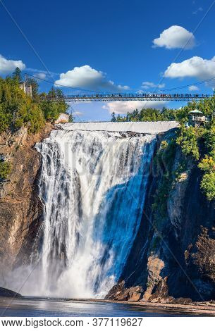 The Majestic And Powerful Montmorency Falls Near Quebec City, Quebec, Canada
