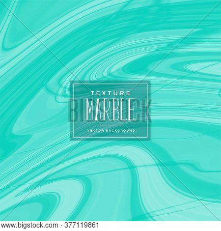 Abstract Turqoise Liquid Marble Pattern Vector Design Illustration
