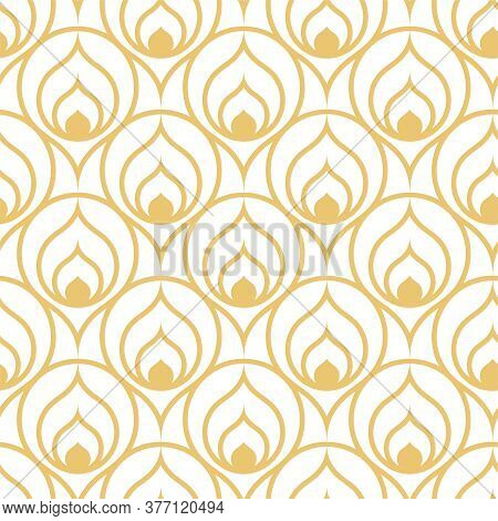 Seamless Linear Vector Luxury Background Texture. Repetitive Line Graphic Curly Tile Pattern. Contin