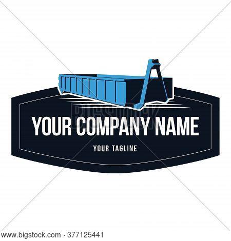 Trace Bin Emblem Logo Corporate Vector Icon