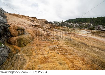Mound Terrace, In Mammoth Hot Springs Area Of Yellowstone National Park