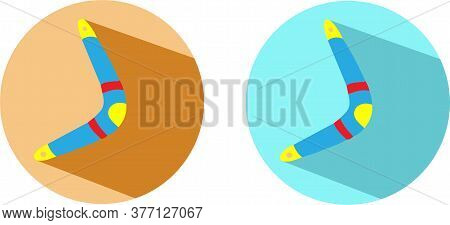 Boomerang Vector Illustration Isolated On Background Unusual, Up, Vector, Weapon, Wood