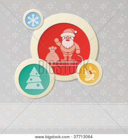 Christmas Background With Christmas And New Year Symbol