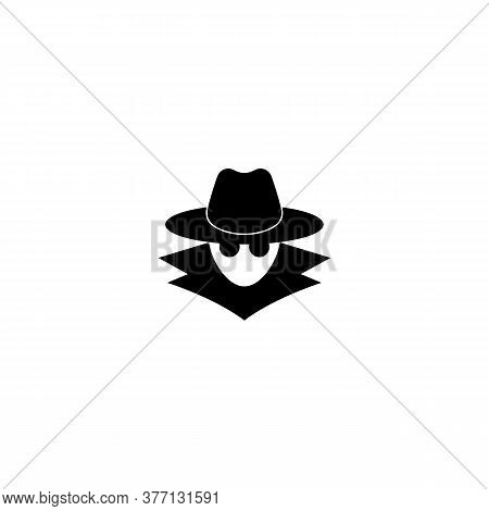 Incognito Icon. Browse In Private. Spy Agent, Secret Agent, Hacker. Vector On Isolated White Backgro