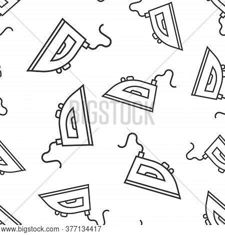 Iron Icon In Flat Style. Laundry Equipment Vector Illustration On White Isolated Background. Ironing