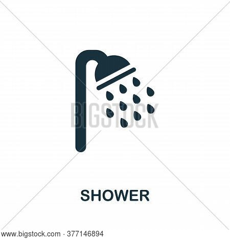 Shower Icon. Simple Element From Hygiene Collection. Creative Shower Icon For Web Design, Templates,