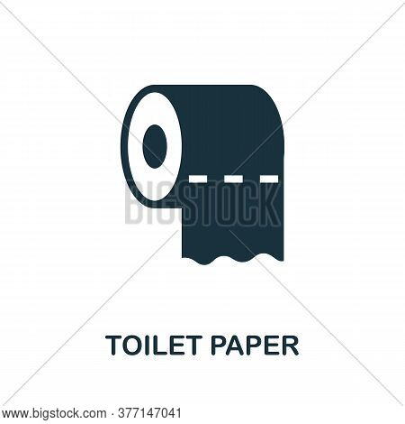 Toilet Paper Icon. Simple Element From Hygiene Collection. Creative Toilet Paper Icon For Web Design