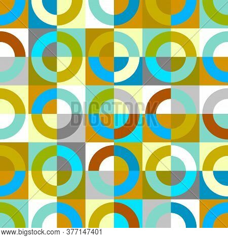 Geometric Abstract Pattern In Patchwork Style. Vector Image.