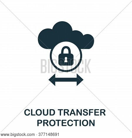 Cloud Transfer Protection Icon. Simple Element From Internet Security Collection. Creative Cloud Tra