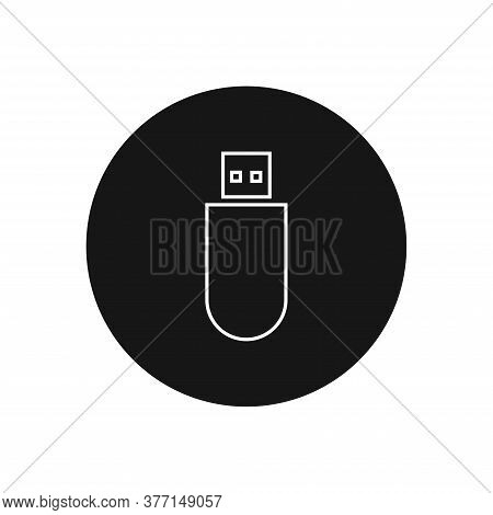Flash Drive Icon Isolated On White Background. Flash Drive Icon In Trendy Design Style For Web Site