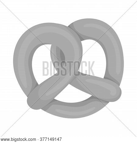 Isolated Object Of Pretzel And Soft Icon. Collection Of Pretzel And German Vector Icon For Stock.