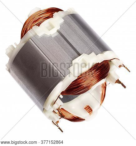 Copper Wire In A Motor, Electric Magnetic Device For Rotor. Stator.