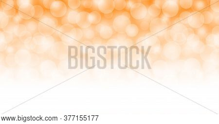 Orange Bokeh For Abstract Background, Orange Light With Bokeh Background, Glowing Orange Bright Shin