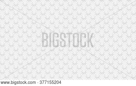 White Background. Cut Paper Effect With Embossed Texture Effect. Vector Eps10
