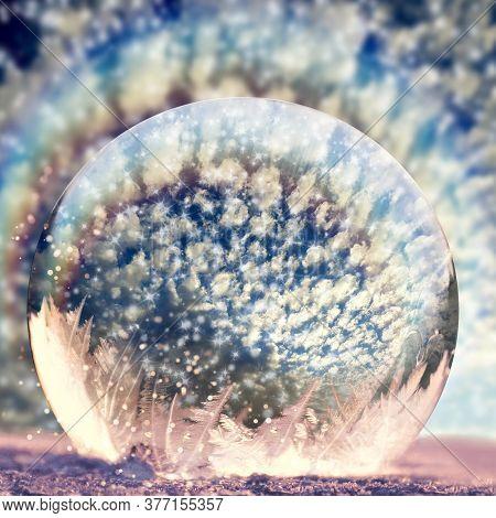 Crystal Rainbow Sphere, Photographed In Bloemfontein, South Africa