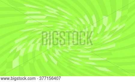 Green Twirl Wave Pattern Abstract For Background, Optical Wave Twirl Green Color, Hypnotic Concept,