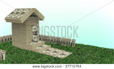 Money House - made from dollar bills