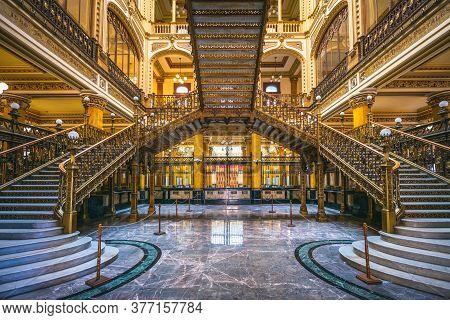 November 7, 2019: Postal Palace Of Mexico City (main Post Office) In Mexico City, Mexico