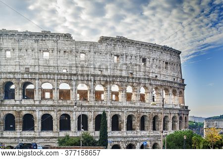 Colosseum Or Coliseum, Also Known As The Flavian Amphitheatre Is An Elliptical Amphitheatre In The C