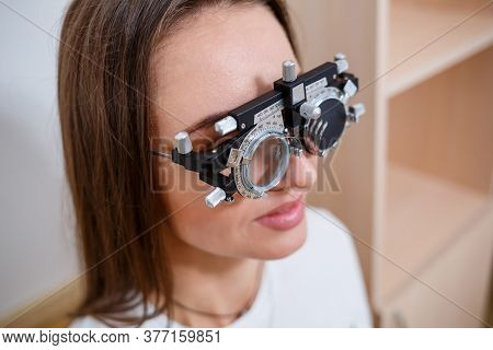 Selection Of Glasses For Sight For The Woman. The Correct Selection Of Points. Optical Salon. Optici