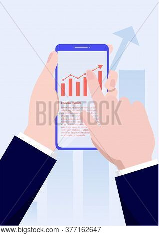 Mobile Technologies Graph Icons. Business Diagram Graph Chart. Investment Growth. Investment Busines