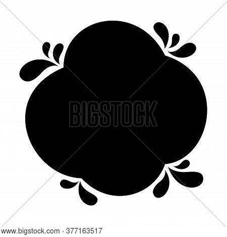 Blob Shape Black For Banner Copy Space, Aqua Background, Water Blob Splash Black, Water Blobs Drople