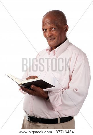 Senior With Holy Book