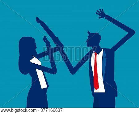 Domestic Violence. Spousal Abuse Concept, Sexual Assault