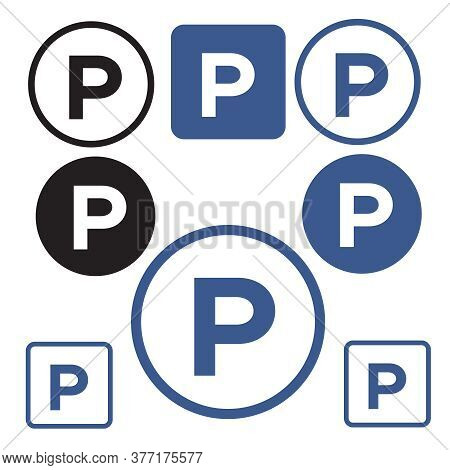 Parking Zone Vector Icon. Parking Transport Area Symbol