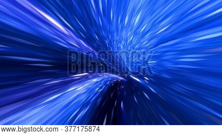 Wormhole Straight Through Time And Space, Warp Straight Ahead Through This Science Fiction. Abstract