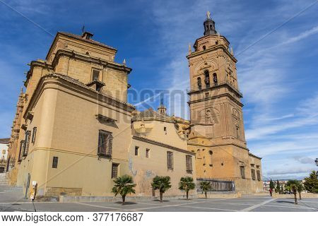 Cathedral Square In The Center Of Guadix, Spain