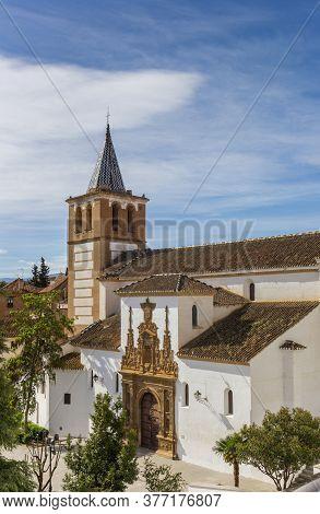 Historic Igelsia De Santiago Church In Guadix, Spain