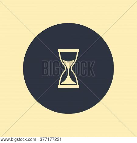 Modern Flat Vector Icon Of Hourglasses On Round Background